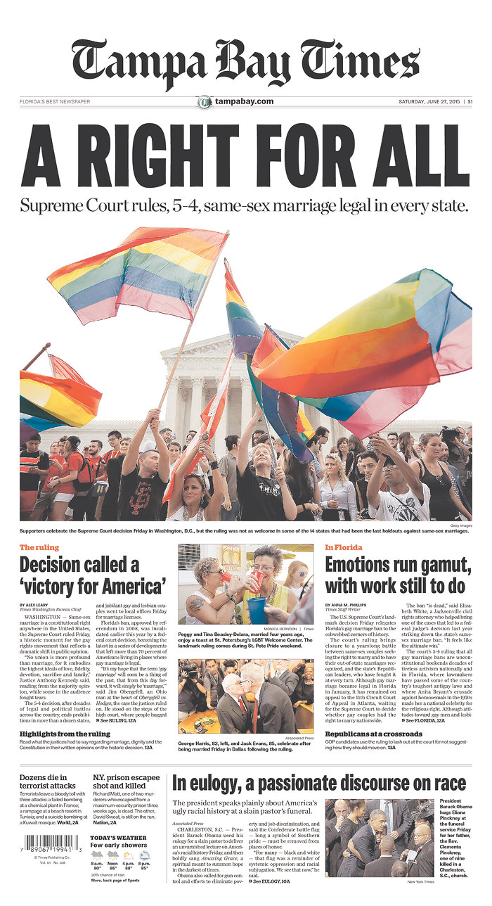 Victory In Pennsylvania >> Front Page News: Newspapers nationwide cover freedom to marry ruling | Freedom to Marry