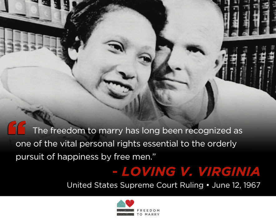 Reflecting On The 47th Anniversary Of Loving V Virginia At The Supreme Court Freedom To Marry