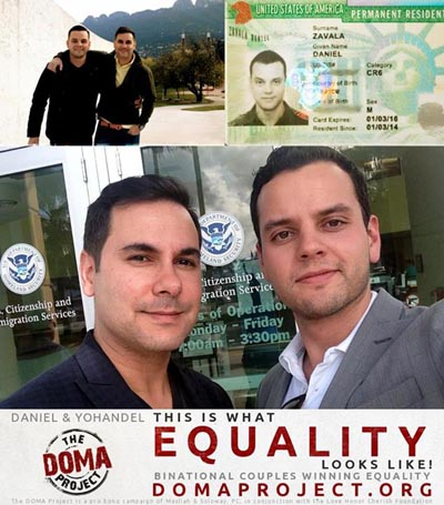 Binational Miami couple Daniel and Yohandel receive green card